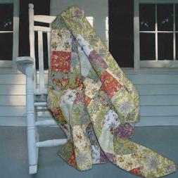 Greenland Home Fashions Blooming Prairie - 50W X 60L In. Qui
