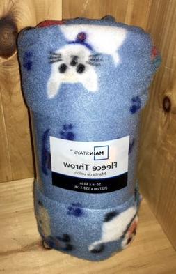 blue dogs fleece throw 50 x 60blanket