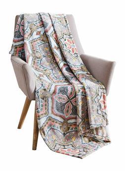 Bohemian Velvet Fleece Throw Blanket Soft Plush Decorative P