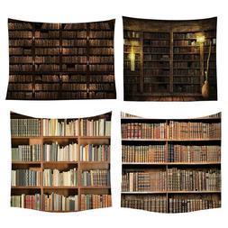 Bookshelf Tapestry Wall Hanging Decor Vintage Bedspread Thro