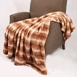 "BOON Animal Faux Fur Throw Blankets, 50"" x 60"", Chinchilla"