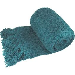 BOON Fluffy Knitted Woven Throw Couch Cover Sofa Blanket, 50