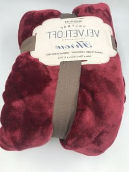 Brand New Berkshire Ultra VelvetLoft Plush Throw Blanket War