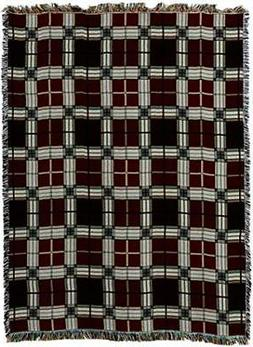 Pure Country Weavers Brickcraft Plaid Blanket Tapestry Throw
