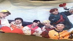 BTS Velvet Plush Throw Blanket Printed New Minor Factory Def
