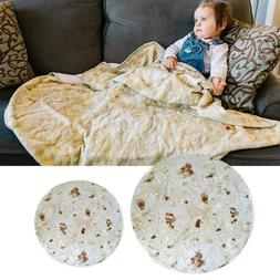 Burrito Blanket Tortilla Soft Flannel Picnic Food Throw Roun
