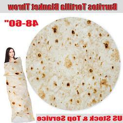 "Burrito Novelty Blanket 48-60"" Giant Human Funny Tortilla Ro"
