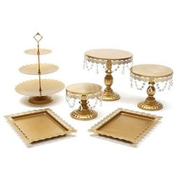 """Chengshang Long Home Cake Stand w/Crystals 8"""" 10"""" 12"""" Weddin"""