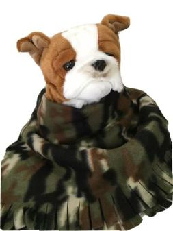 CAMOUFLAGE GREEN, Fuzee Fleece Dog Blankets, Soft Pet Blanke