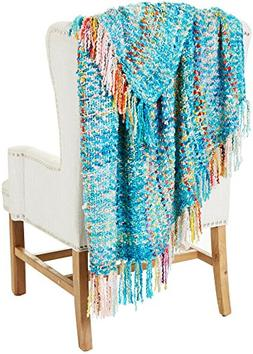 Arlee Carnival Multi-Color Knit Throw Blanket One Size Cloud