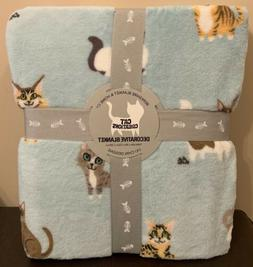 "Berkshire Cat Creations Throw Blanket Twin 60""x 90"" Lili C"
