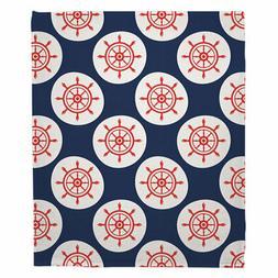Longshore Tides Cecelia Ship Wheel Fleece Blanket