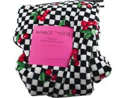 "Betsey Johnson Cherries Ultra Soft Plush Throw Blanket 50"" x"