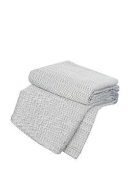 Lavish Home Chevron 100Percent Egyptian Cotton Blanket - Kin