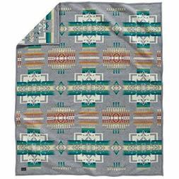 Pendleton Chief Joseph Wool Blanket, Grey, Twin Size