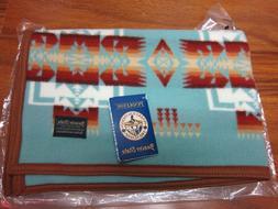 """Pendleton Chief Joseph Muchacho Baby Blanket 32""""x44"""" Aqua Ma"""