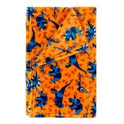 Viv & Lou Childrens Kid's Fashion Print Plush Throw Blanket