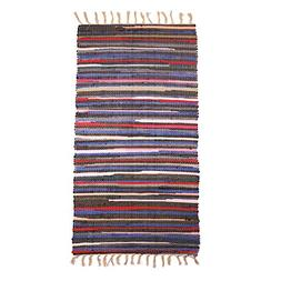 Chindi Area Rug with Tassel,SHACOS Fully Reversible Cotton R