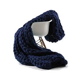 ACARPO Chunky Knit Blanket Handwoven Wool Yarn Knitting Thro