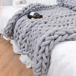 Chunky Knitted Blanket- Cozy, perfect gift! Ships from the U
