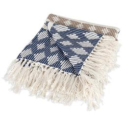 DII Classic Colby Southwest Cotton Handwoven Stripe Blanket
