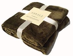 "Ralph Lauren 50 X 70"" Classic Micromink Throw Blanket with E"