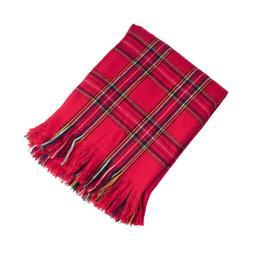 "Fennco Styles Classic Red Plaid Design Throw Blanket - 50""x6"