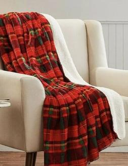 Berkshire Blanket Co Red And Green Nottingham Plaid Revesibl