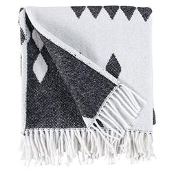 Rivet Colorful Geometric Diamond Jacquard Reversible Throw B
