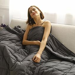 CuteKing Weighted Blanket 48''x78'' 20lbs Twin Bed Heavy wit
