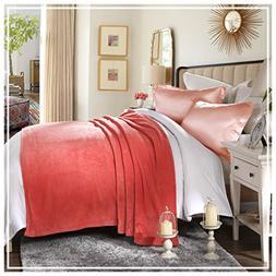 HYSEAS Coral Fleece King Size Plush Bed Blanket