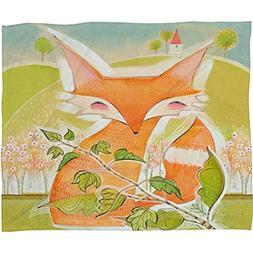 Deny Designs  Cori Dantini, Little Fox, Fleece Throw Blanket