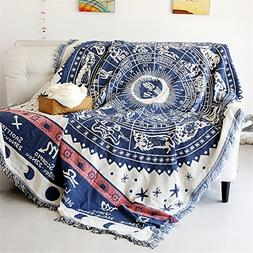 Cotton 12 Constellations Decor Tapestry Pattern Woven Couch