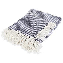 DII 100% Cotton Basket Weave Throw for Indoor/Outdoor Use Ca