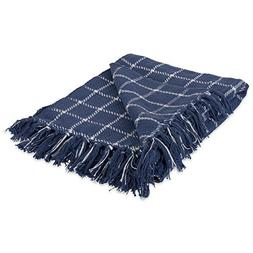 DII 100% Cotton Checked Throw for Indoor/Outdoor Use Camping