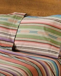 Pendleton 100% Cotton Flannel Sheet Set Agave Stripe