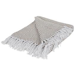 DII 100% Cotton Geometric Daimond Throw for Indoor/Outdoor U
