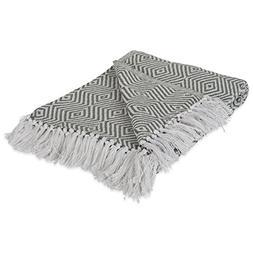 DII 100% Cotton Geometric Daimond Throw for Indoor/Outdoor U