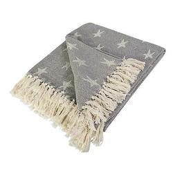 cotton handloom stars throw