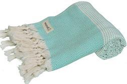 Bersuse 100% Cotton Hierapolis Turkish Handloom Towel, 37X70