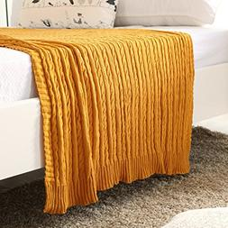 iSunShine Cotton Knitted Cable Throw Soft Warm Cover Blanket
