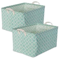 DII Cotton/Polyester Cube Laundry Basket, Perfect in Your Be
