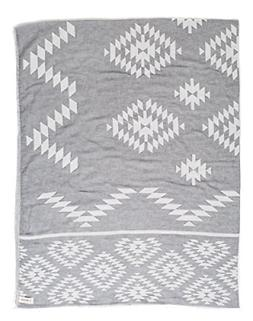 Bersuse 100% Cotton Teotihuacan XL Blanket Dual-Layer Turkis