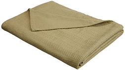 Superior 100% Cotton Thermal Blanket, Soft and Breathable Co