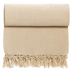 Whisper Organics 100% Organic Cotton Throw Blanket - GOTS Ce