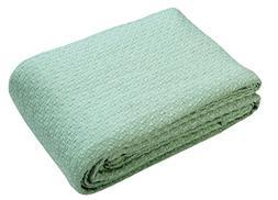 100% Soft Premium Cotton Thermal Blanket -King 102x90 MINT G