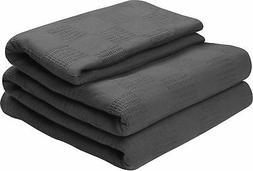 Utopia Bedding Woven Cotton Blanket  Breathable Cotton Throw