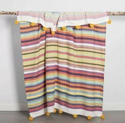 Opalhouse Cotton Woven Global Stripe Throw Blanket