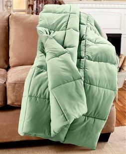 "COZY OVERSIZED 55""X70"" DOWN FREE HYPOALLERGENIC THROW BLANKE"