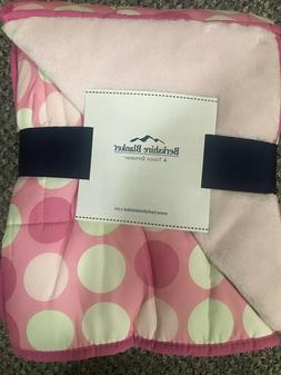 "Berkshire Blanket Cozy Plush Throw - Big Pink Dots - 50"" x 6"